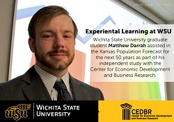 Graduate Student Matthew Darrah assisted in the Kansas population forecast for the next 50 years as his independent study.